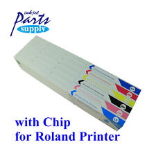 6 x 440ml Eco Solvent MAX Ink Cartridge with Chip for Roland SJ/VP/SP/RS/XJ/XC
