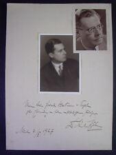 original Autogramm / Widmung - KARL BÖHM - 1927 - Dirigent / Wagnerinterpret