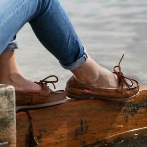 Chatham Harper Boat Shoe - Ladies Brown Leather Deck Shoes Sizes 3 to 9
