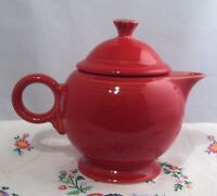Fiestaware Scarlet Teapot Fiesta Large 44 oz Red Teapot with Lid