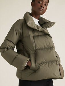 M/&S Breathable Lightweight Quilted Padded Hooded Jacket Stormwear Black Size 24