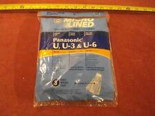 (0927.) Vacuum Cleaner Bags for Panasonic Upright Types U, U-3 & U-6