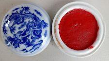CHINESE XL 8cm RED INK PASTE DRAGON JAPANESE BRUSH PAINTING WRITING CHOP SEAL