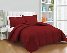 200 GSM Down Alternative Comforter Egyptian Cotton Solid Burgundy King Size