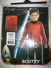 Star Trek Scotty Fancy Dress Up Halloween 4-6years BRAND NEW IN PACKET
