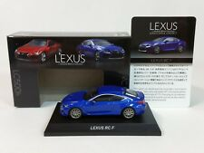 1:64 Kyosho Lexus Minicar Collection RC F RCF SPORT Coupe 5.0L V8 2014-2018 Blue