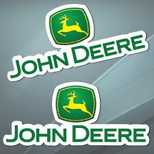 2 Vinyl Stickers Auto Moto John Deere Farming Racing Tractor Car Combine B 38