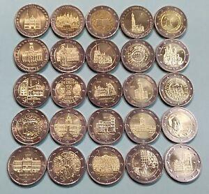 Deutschland 2€ Euro 2006 2007 2008 2009 2010 2011 2012 2013 2014 - 2021, AUSWAHL