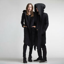 US STOCK Women Men Outwear Hooded Coat Long Trench Jacket Warm Casual Cloak  Cape e6db15a14