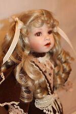 "Franklin Mint Limited Edition Coca Cola Heirloom 18"" Doll SARAH Porcelain/Cloth"