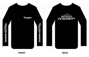Triumph T shirt Long sleeve motorbike motorcycle biker vintage Thunderbird