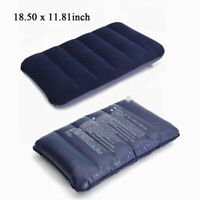 Inflatable Pillow Foldable Air Cushion For Car Travel Outdoor Hiking Camping New
