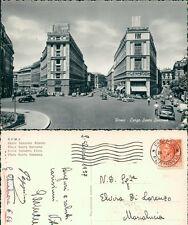 Cartolina Lazio Roma Largo Santa Susanna pubblicità FIAT