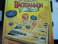Wooden Backgammon game in nice condition