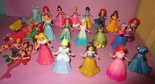 Huge Disney Princess Magiclip Magic Clip Polly Pocket Elsa Belle Doll Dress Lot!