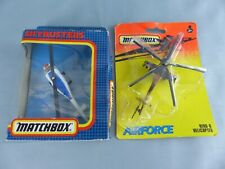 MATCHBOX SKYBUSTERS SB-33 Bell jet Ranger + HELICOPTER  HIND-D avion NEUF