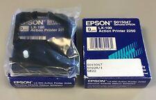 2 x Genuine Epson LX-100 / Action Printer 2250 Ribbon (Epson S015047)