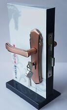 Door Handle On Plate Set Lever Lock Internal External Antique Copper Sashlock