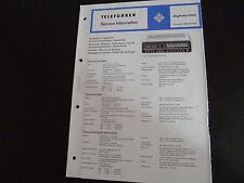 Schaltbild Service Informationen Telefunken digitale 200