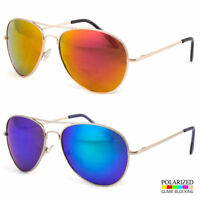 Oversized Extra Large Aviator Polarized Sunglasses Silver Mirror Lenses Fashion