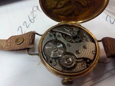ANTIQUE ROLEX  WW1 TRENCH OFFICERS GOLD HALLMARKED WATCH BY W & D