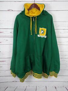 Mitchell & Ness Throwbacks Men's Greenbay Packers Size 5XL Full Zip Hoodie Hood