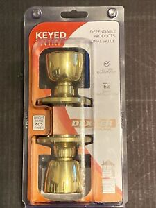 Dexter by Schlage J54-BYR Byron Keyed Entry Single Cylinder Door Knob Set Brass