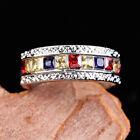 Luxury 925 Silver Rings for Women Cubic Zirconia Wedding Jewelry Gifts Sz 6-10
