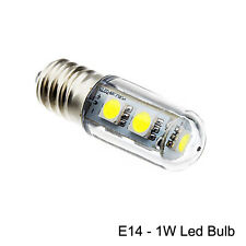 E14 Energy Saving LED Light Bulb 1W For Range Hoods Smoke Exhauster Cool White