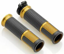 GENUINE RIZOMA LUX HANDLEBAR GRIPS MOTORCYCLE GOLD BILLET ALLOY 22mm BAR