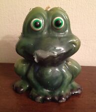 """Vintage Figural Candle ---  Happy Frog 5"""" Tall"""