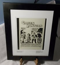 GREEN LANTERN #32 PAGE 1 HAL PROPOSES FRAMED ORIGINAL ACETATE PAGE ONE OF A KIND