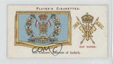 1924 Player's Drum Banners & Cap Badges Tobacco Base #21 21st Lancers Card 0a1