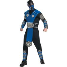 Mortal Combat Sub Zero Mens Costume Gamer Licensed Halloween Ninja Cosplay