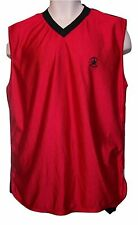 CONVERSE ALL STAR, Chuck Taylor, Red, Sleeveless Classic Basketball Jersey, Sz M