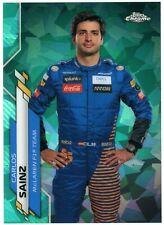2020 Topps Chrome Sapphire F1 Carlos Sainz Aqua #8 /99