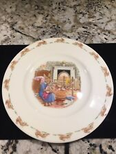 "Royal Doulton Easter Bunnykins 8"" Plate ""Bath Time"" 1988 English Fine Bone China"
