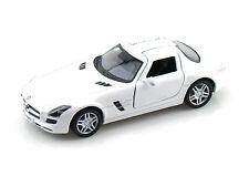 Mercedes-Benz SLS AMG, Scale 1:36 , Kinsmart Diecast Pull Back Toy Car - White