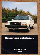 1977 VOLVO 343 Colours & Upholstery Guide