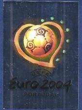 PANINI EURO 2004- #001-UEFA EURO 2004-PORTUGAL-SILVER FOIL