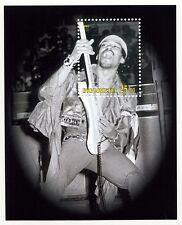 Jimi Hendrix 2001 Ingushetia Stamp Sheet - Superb Graphic - Perforated; Mnh