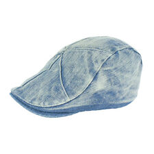 Denim Newsboy Jean Gatsby Cap Ivy Hat Golf Driving Summer Flat Cabbie SZ-ZL