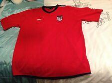 Umbro Inglaterra Camiseta De Fútbol 3 Leones Rojo lejos Top Para Hombre Xl