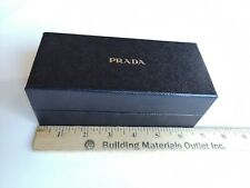 "PRADA Gift Box  6.5"" x 3"" x 2.5"" Black Embossed, Logo Interior, Fits Eyeglasses"