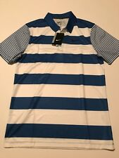 Nike Golf Dri-Fit Bold Stripe Royal Blue Standard Fit Polo S NWT Nike ID- 833059