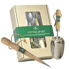 Garden Dibber And Soil Scoop Potting Up Gift Set Stainless Steel Hand Tools
