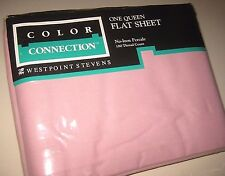 Vintage Solid Rose Pink QUEEN Size Flat Sheet by Westpoint Stevens Made in USA