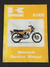 Genuine Kawasaki KH100 Motorcycle Service Manual 99924-1004-01 (MT)