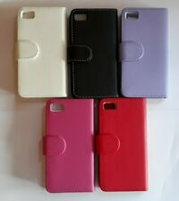 Book style PU leather folio, flip phone case, cover to fit Blackberry Z10