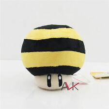 "5"" Super Mario Bro Galaxy Bee Mushroom Kid Soft Plush Toy Stuffed Animal Figure"
